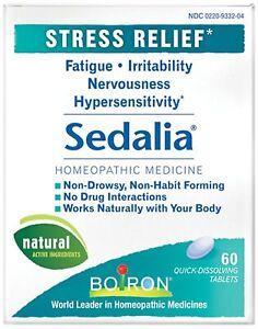 Boiron Sedalia Stress - 60 Tablets - Exp 1/2023