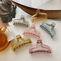 Big Hair Claw Crabs Women Flowe Transparent Acrylic Large Girls Hair Ponytail~