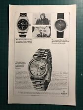 Rolex Day-Date 1803 & Explorer I 1016 1967 VERY EARLY Pub Ad Werbung