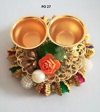 Indian Puja Thali Fancy Decorative Hindu Mini Pooja Prayer Plate Home Decor