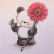 ♥ 1 Bügelbild Panda Bär Transferfolie dunkle helle Stoffe ♥ reborn