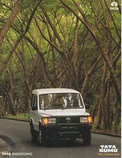 Tata sumo SUV Car (made in India) __ 2000 folleto/brochure