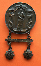 1886 SWISS SHOOTING MEDAL SEMPACH COIN SWITZERLAND + AISNE MARNES WWI TRENCH ART