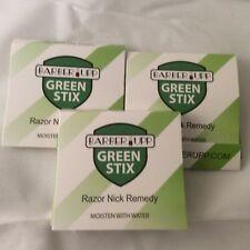 Styptic Stick Shave Accessories Green Stix, 3 Pack Stops Bleeding of Razor Nicks