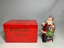 """New In Box Polonaise Coca-Cola Ornament """"Sundblum Coca-Cola Santa� Ap2814Nw"""