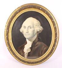 George Washington Antique Gilded Framed Oval Portrait Print Lithograph President