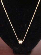 Brand New Avon, gold, white cubic zirconia, necklace/earring set, extender, ball