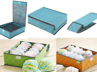 LT 1x Clothes Wardrobe Organiser Socks Tie Bra Tidy Storage Box Drawer Divider