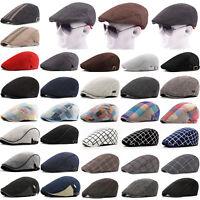 Mens Newsboy Cabbie Hat Summer Golf Driving Flat Cap Classic Vintage Gatsby Hat