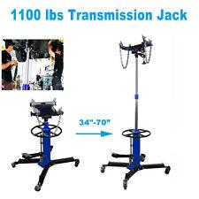 Blue 1100LBS 2Stage Hydraulic Transmission Jack w/360°Swivel Wheels Lift Hoist