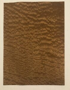 "Pommele Sapele Wood Veneer: 1 Sheet (15.5"" X 11"") 1 Sq Ft"