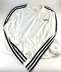 New Men's Adidas Essentials 3-Stripes Climate Long sleeve Size Large #EI5646