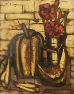 "Franz Priking (Pricking). ""Nature morte aux fleurs"". Huile sur toile v672"