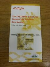 14/03/2003 Horse Racing Programme: Warwick - Second March Meeting, The Systimax