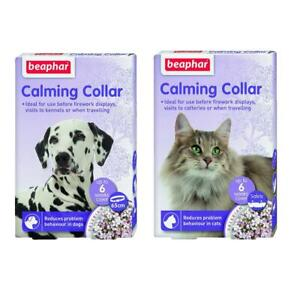Beaphar Calming Collar Anxiety Stress Reduction Collar for Cats or Dogs