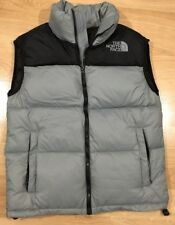 The North Face Puffer Vest Mens Size Medium Down Fill Gray And Black Excellent