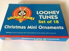 Looney Tunes Mini Christmas Ornaments Set of 18 NIB 1999 Warner Brothers
