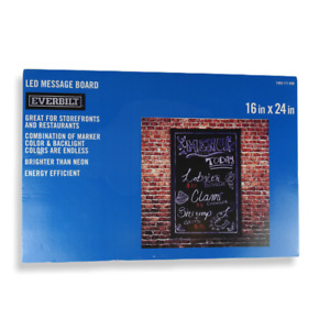 LED Writing Message Board w/ Remote  Attachments Menu Sales Storefront Sign
