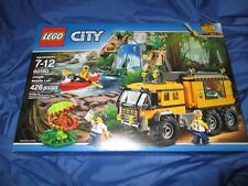 JUNGLE MOBILE LAB Lego Set #60160 CITY (Minifigures/Kayak/Alligator/Truck)