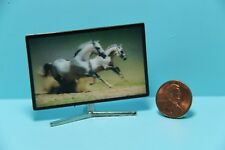 Dollhouse Miniature Big Screen Television with 3D Picture G7522