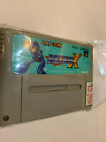 ROCKMAN MEGAMAN X SUPER FAMICOM SNES NINTENDO GAME LOT SET