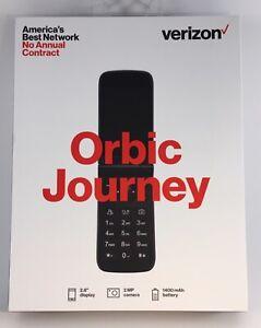 "Verizon Orbic Journey Flip Phone Prepaid 2 8"" Display 4G LTE Black Phone NEW"