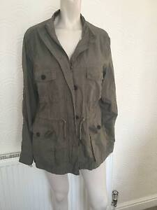 Fatface green jacket with drawstring waist detail.  Size 18.