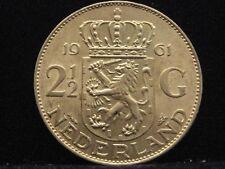 Países Bajos 2 1/2 florines 1961 reina Juliana plata% 720 nr221