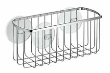 InterDesign Suction, Rectangle Basket, Polished Stainless Steel
