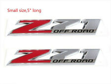 2x OEM Chrome Small Z71 OFF ROAD Emblems for GMC Chevy Silverado Sierra Suburban