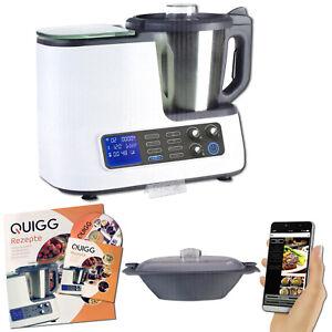 Quigg Küchenmaschine, WLAN Funktion, Waage, Steuerung per App, Dampfgaraufsatz