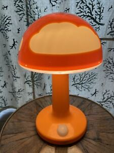 IKEA Vintage Orange With Clouds Mushroom Light Skojig Working with Power Plug