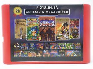 Super 218 in 1 Sega Genesis & Mega Drive Multi Cart 16-Bit Game Cartridge    196