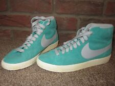 NEW UK 5 Mens NIKE Trainers Mid top Blazer Suede Lace Up Mint Green Boys Summer