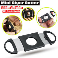 Stainless Steel Mini Pocket Cigar Cutter Guillotine Double Blades Scissor