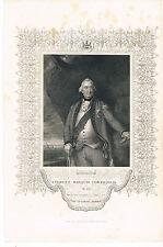 ENGRAVING CHARLES MARQUIS CORNWALLIS OB1805 JOHN TALLIS & CO ENGRAVED W HOLLAND