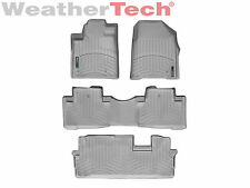 WeatherTech FloorLiner - Honda Pilot - 2009-2015 - Grey - 1st, 2nd & 3rd Row