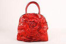 """Valentino Garavani Red Leather """"Petale"""" Dome Tote"""