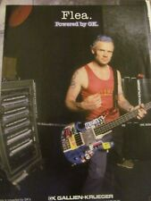 Red Hot Chili Peppers, Flea, Gallien-Krueger, Full Page Vintage Promotional Ad