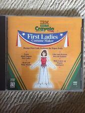 IBM CRAYOLA FIRST LADY COSTUME MAKER
