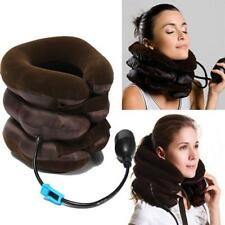 Easy Inflatable Cervical Support Cushion Neck Traction Head Pain Relief Brace