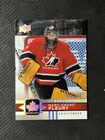 2017-18 UPPER DECK TEAM CANADA MARC-ANDRE FLEURY UD EXCLUSIVES #ed 30/100