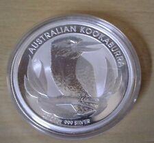 2012 Australian 1 Ounce  Kookaburra .999 Fine Silver Coin in Capsule