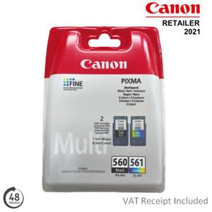 Genuine Canon PG-560 Black & CL-561 Colour Ink Cartridges Multipack 3713C006