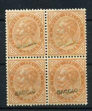1863 Regno De La Rue Saggi Saggio Prova cent. 10 quartina soprastampa a mano