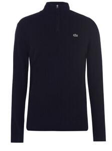 Lacoste Size XS/S Black Quarter Zip Sweater