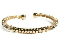 GUESS Womens Gold & Rhinestone Embellished Thread Wrapped Bangle Bracelet NEW