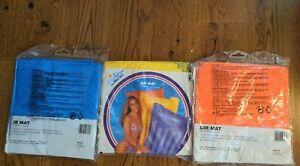 "Lot of 3 NOS Vintage 1994 Intex AIR MAT 72"" x 27"" Pool Float Mattress #59703"
