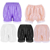 Sissy Women's Ruffled Pettipants Layered Bloomers Lace Trim Boyshorts Underwear