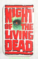 NIGHT OF THE LIVING DEAD Promo Pinback Button Movie Poster Art  1990 HORROR